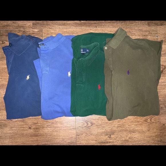 polo ralph lauren shirt bundle ( 4 Shirts) XL B2